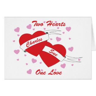2 hearts one love-002 card
