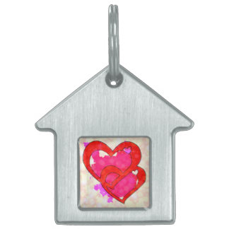 2 HEARTS PET TAG