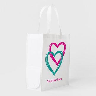 """2 Hearts"" Reusable Bag"