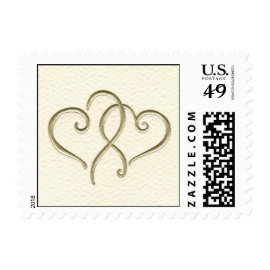 2 hearts stamps