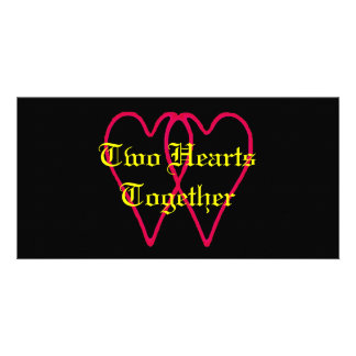 2 Hearts Together Black The MUSEUM Zazzle Gifts Card