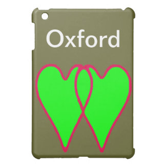 2 Hearts Together Green The MUSEUM Zazzle Gifts iPad Mini Case