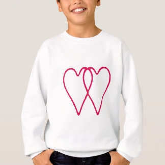 2 Hearts Together White The MUSEUM Zazzle Gifts Sweatshirt
