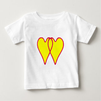 2 Hearts Together Yellow The MUSEUM Zazzle Gifts Baby T-Shirt