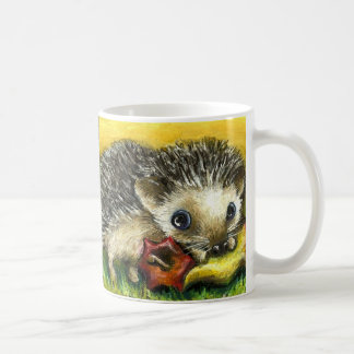 2 hedgehogs mug