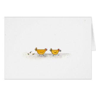 2 Hens Running Card