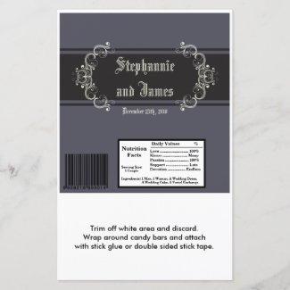 2 Hershey's Large Bar Wrapper Black Tie Affair