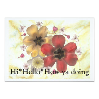 2 Hi Hello How ya doing Card
