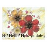 2 hola hola cómo usted que hace tarjeta postal