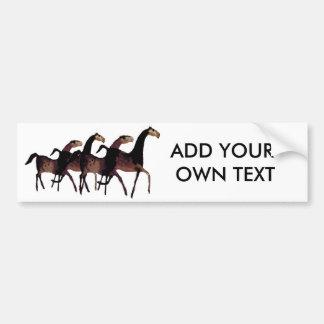 2 Horses Bumper Sticker