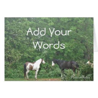 2 Horses Card-customize Card