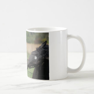 2 Horses Chewing a Fence Post Coffee Mug