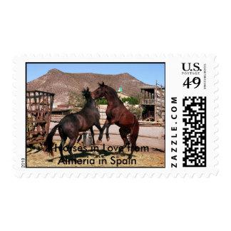 2 Horses in Love .Almeria Spain Photo: CHG Postage Stamps