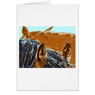 2 Horses in the Sunshine Card