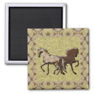 2 HORSES Magnet Fridge Magnets