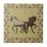 2 HORSES Tile