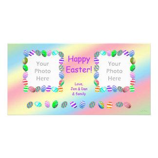 2 huevos de Pascua pintados foto Tarjetas Fotograficas Personalizadas
