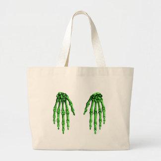 2 imponer de color verde oscuro bolsa lienzo