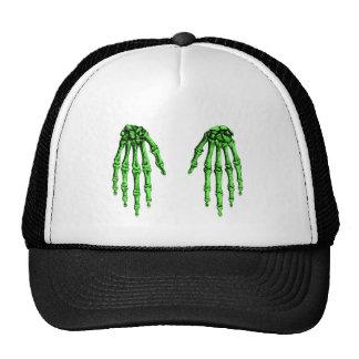 2 imponer de color verde oscuro gorros bordados