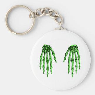 2 imponer de color verde oscuro llavero redondo tipo pin