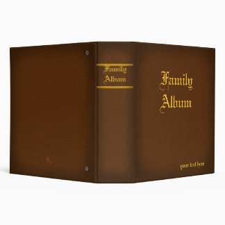 2 in. Brown Family Album BInder