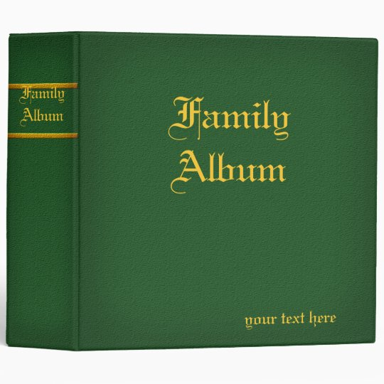 2 in. Family Album Binder Green