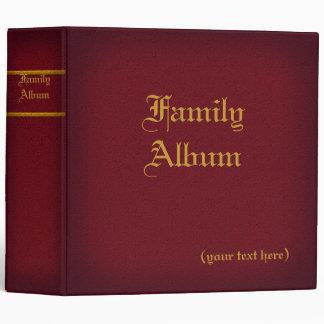 2 in. Maroon Family Album Binder