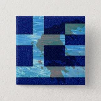 2 in. Square button/Greek flag Button
