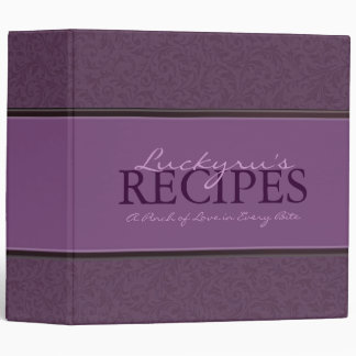 2 Inch Floral with Ribbon Recipe Binder