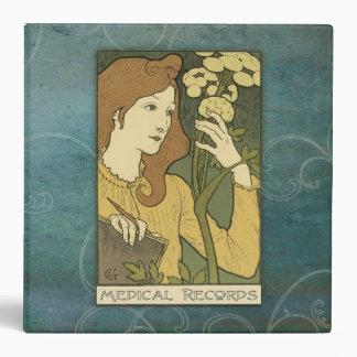 2 Inch Medical Records Binder Art Nouveau Blue