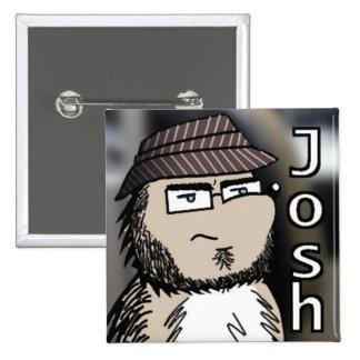 2 Inch Square Button - Josh