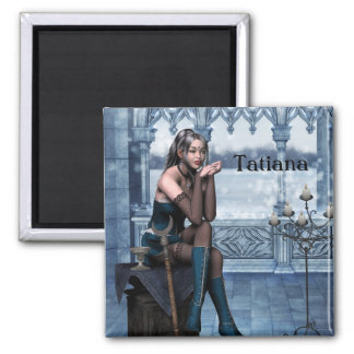 2 Inch Square Magnet; Fairy Collection: Tatiana Magnet