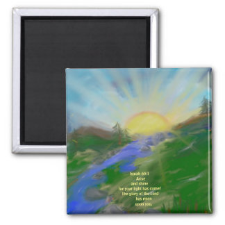 2 Inch Square Magnet inspirational scripture