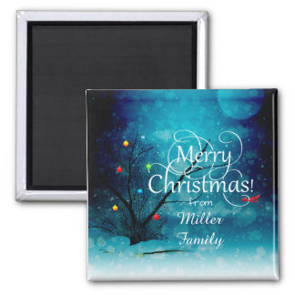 2 Inch Square Magnet-Merry Christmas Magnet
