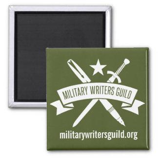 2-inch square magnet, Olive Drab Magnet