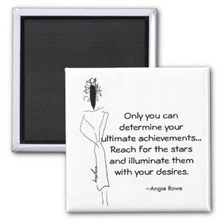 2 Inch Square Motivational Magnet