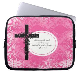 2 John 1:2 Laptop or Netbook Carrier Sleeve Laptop Computer Sleeve