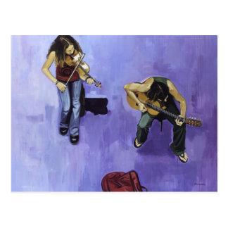 2 jovenes músicos postcard