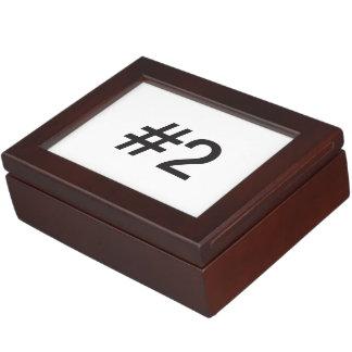 2 KEEPSAKE BOXES