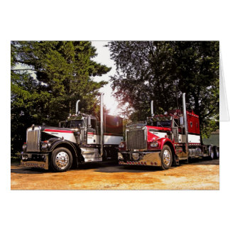 2 Kenworth W900As Note Card