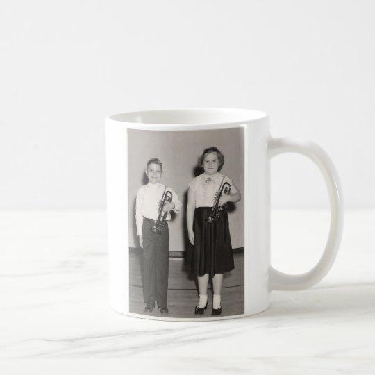 2 Kids with Trumpets Coffee Mug