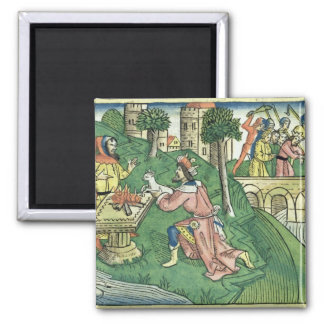 2 Kings 16 9-16 The people of Damascus are taken c 2 Inch Square Magnet
