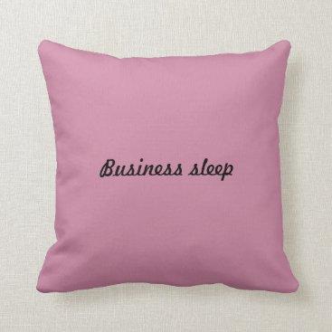 2 kissing business sleep. throw pillow