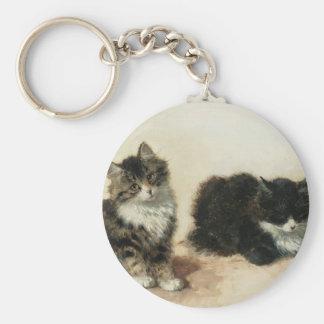 2 kittens keychain