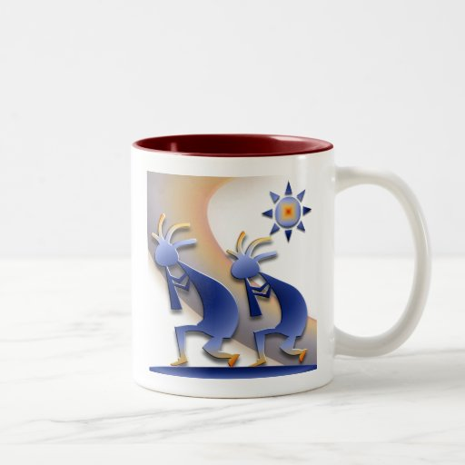 2 Kokopelli #128 Two-Tone Coffee Mug
