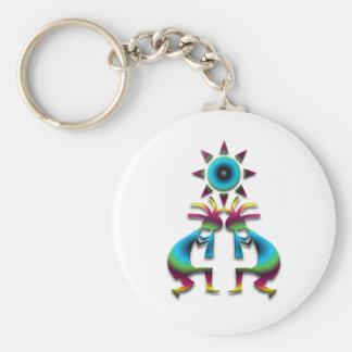 2 Kokopelli #41 Basic Round Button Keychain