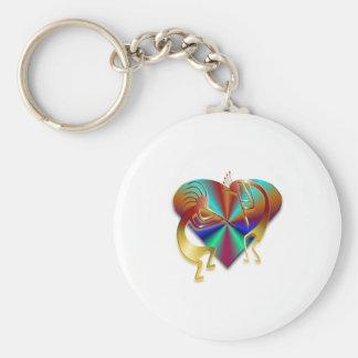 2 Kokopelli #45 Basic Round Button Keychain