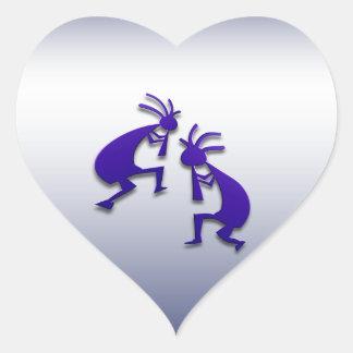 2 Kokopelli #83 Heart Sticker