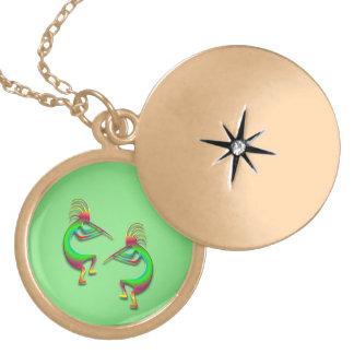 2 Kokopelli #88 Locket Necklace