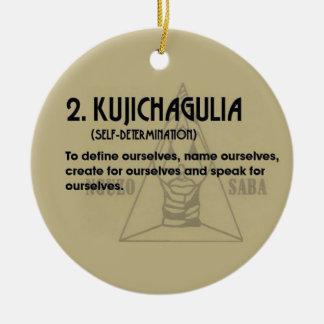 2. Kujichaguila Kwanzaa Holiday Ornament